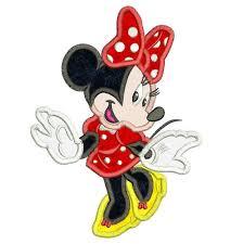 cute minnie mouse applique design 3 sizes instant download