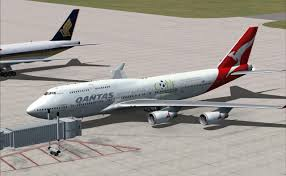 qantas boeing 747 400 ge for fsx