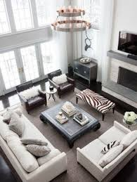 Living Room With Tall Fireplace Room Furniture And Decor Layout - Living room designs with fireplace