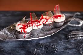 bloody halloween cupcakes with sugar glass shards foodology geek