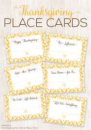 free printable thanksgiving place cards chickabug