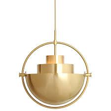 brass light gallery multi lite pendant light by gubi ylighting