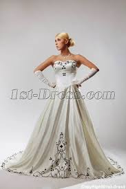 plus size wedding dresses cheap ivory plus size wedding dresses with color black sov110027 1st