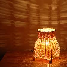 amber led book light woven bamboo night light l light abajur infantil laras led