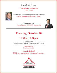 lunch u0026 learn commercial real estate crash course houston chapter