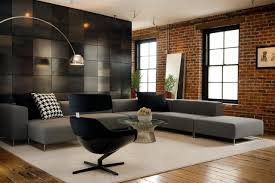 Decorate Living Room Black Leather Furniture Living Room Black Leather Sofa Grey Rug Light Brown Tile
