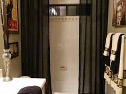 Bathroom With Shower Curtains Ideas by Image Of Alumia Single Curved Shower Rod Shower Bathroom Shower