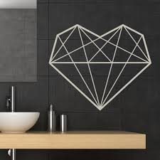 geometric heart wall sticker decal u2026 pinteres u2026