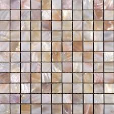 Seashell Tiles Mother Of Pearl Backsplash Square Mosaic Natural - Seashell backsplash