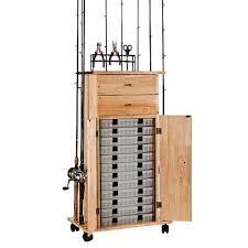 Fishing Rod Storage Cabinet Organized Fishing Rod Rack Utility Box Cabinet West Marine