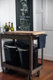 kitchen island with trash bin no place to put the trash can use the bottom of a kitchen island