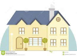 vector two story house icon stock vector image 53714741