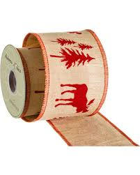 wired ribbon great deals on 4 wide moose and tree wired ribbon 10 yards