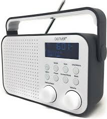 Cuu Cuu Clock Denver Dab 39 Grey Portable Digital Dab Radio Alarm Amazon Co Uk