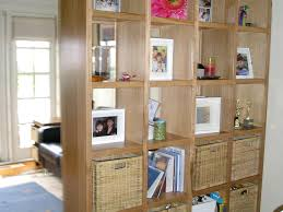 wall room divider ideas wooden storage box 6 section divided 2