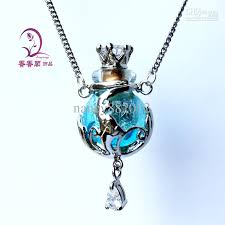 glass bottle necklace pendants images Murano glass essential oil bottle necklace empty perfume bottles jpg
