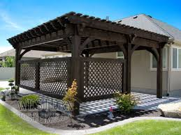 Pergola With Movable Louvers by Free Standing Pergola With Rich Cordoba Stain And Champion Profile
