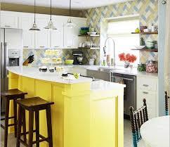 gray and yellow kitchen dark brown wood floor paint black shiny