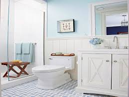 blue cottage bathroom