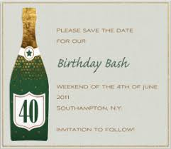 save the date birthday cards card invitation design ideas square green 40th birthday party