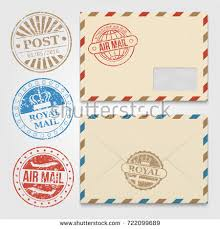 air mail paper letter envelopes vector stock vector 454120933