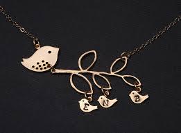 grandmother jewelry gold bird initial bird necklace grandmother jewelry three