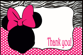 minnie mouse thank you cards minnie mouse thank you card on handmade artists shop
