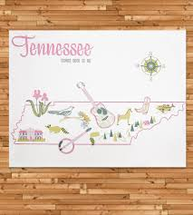 Tennessee Map Us by Vintage Inspired Tennessee Map Print Art Prints U0026 Posters