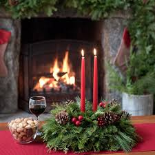 Christmas Fresh Flower Table Decorations by New England Centerpiece Fresh Christmas Table Centerpiece