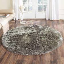Grey Round Rug Round Area Rugs Rugs The Home Depot