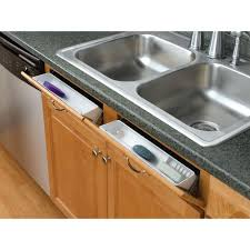 RevAShelf  In H X  In W X  In D White Polymer - Kitchen sink drawer