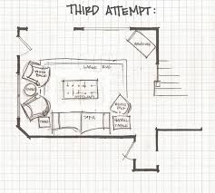 Floor Plan Of A Living Room Remodelaholic Living Room Part 3 Experimenting With Furniture