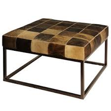 Cowhide Upholstery Animal Hide Ottoman Wayfair