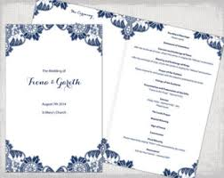 Wedding Booklet Templates A4 Wedding Order Of Service Template Begonia Pink
