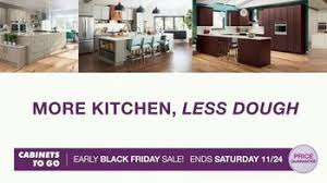 kitchen cabinets on sale black friday cabinets to go early black friday sale tv commercial shaker style kitchen