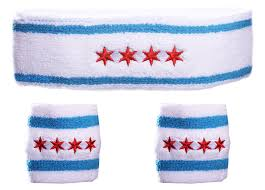 sweat band chicago flag sweatband bundle white custom sweat