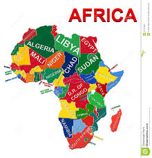 Africa Map Political by Africa Political Map Stock Vector Image 53791608