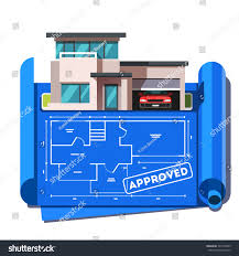 blueprint of a mansion architect floor plan blueprint modern contemporary stock vector