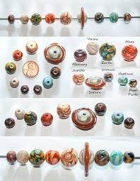 solar system plus pluto handmade with glass by copperrein on