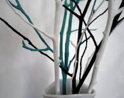 white tree branches scandinavian home decor woodland decor