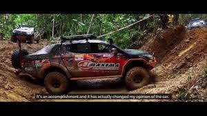 mitsubishi strada borneo international off road mitsubishi strada youtube
