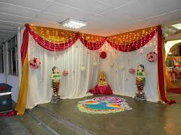 Temple Decoration Ideas For Home Indian Engagement Decoration At Home Crowdbuild For