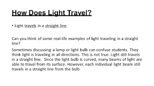 how does light travel images Light energy what is light make a list of things that give us jpg