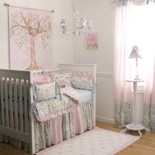 Vintage Style Crib Bedding Baby Nursery White Crib Vintage Style Bumper Quilt Soft Pink