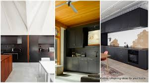step out of the box with 31 bold black kitchen designs