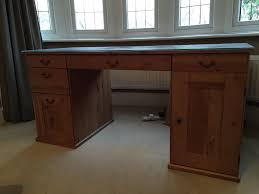 Solid Oak Office Desk Ikea Large Antique Pine Solid Wood Office Desk In Bournemouth