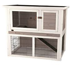 Rabbit Hutch Plastic New Age Pet Ecoflex 2 7 Ft X 4 Ft Huntington Townhouse Rabbit