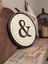 Letters Home Decor 8 Round Letter Ampersand Sign Monogram Initial Wall Art Home
