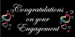 congratulations engagement banner engagement banner hearts
