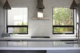 kitchen window backsplash kitchen with geometric marble tile backsplash contemporary kitchen